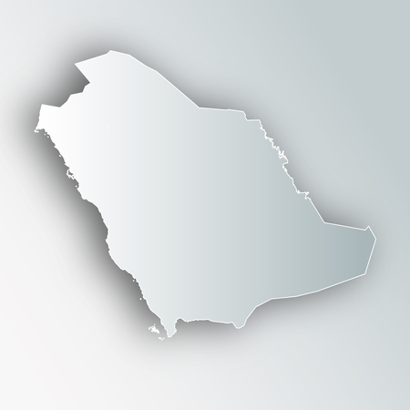 Saudi Arabia map frame icon.