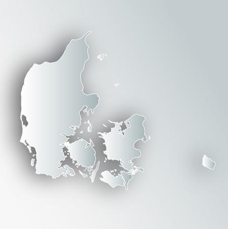 덴마크지도 프레임 아이콘