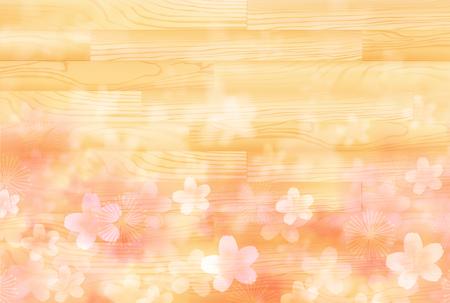 Cherry Blossoms spring flower background 일러스트