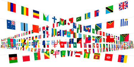 Flags of the world design background 스톡 콘텐츠 - 99061797