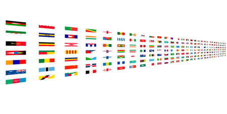 Flags of the world design background