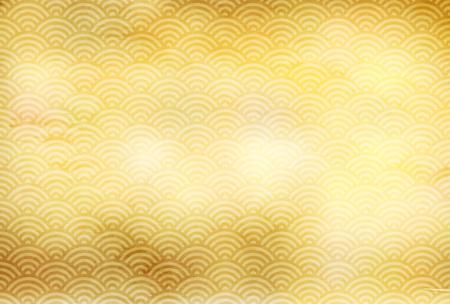 Sea summer Japanese paper background  イラスト・ベクター素材