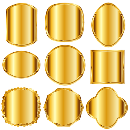 Frame gold metal icon