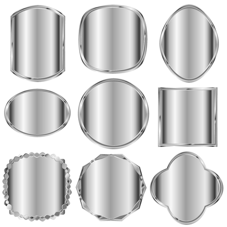 Frame silver metal icon