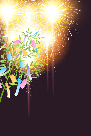 Tanabata bamboo summer background