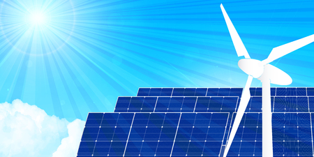 Solar power generation energy background