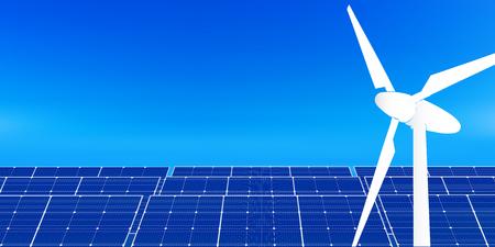 Solar power generation energy background