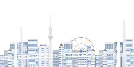 Bay Bridge Bridge Tokyo Background Ilustracja