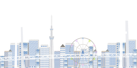 Bay Bridge Bridge Tokyo Background Illustration