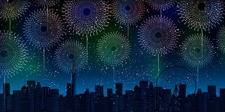 Fireworks Summer Heat Meditation Background