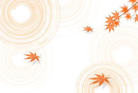 Maple autumn Japanese paper background