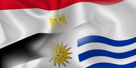 Egypt Uruguay national flag soccer ball