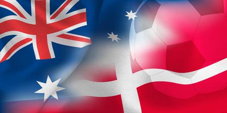 Australia Denmark national flag soccer ball