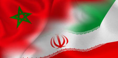 Morocco Iran national flag soccer ball