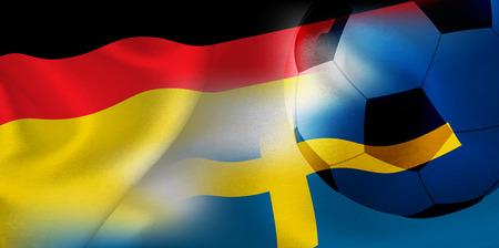 Germany Sweden national flag soccer ball