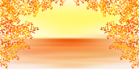 Autumn leaves Maple autumn background Illustration