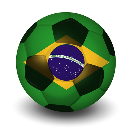 Brazilian football country icon  イラスト・ベクター素材