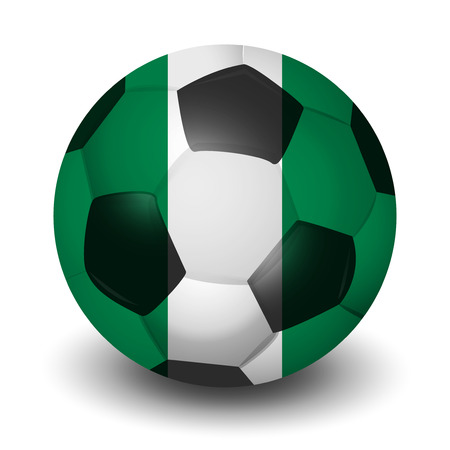 Nigeria soccer country icon Illustration