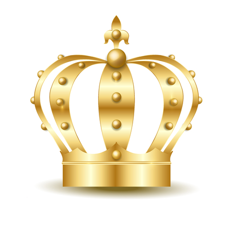 Crown copper light icon Illustration