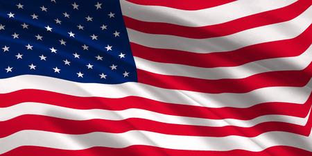 American Flag Silk Background Illustration