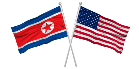United States North Korea flag icon