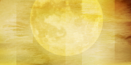 Sky Moon Japanese paper background  イラスト・ベクター素材
