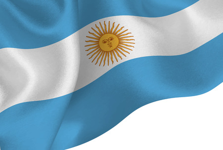 Argentina national flag background Foto de archivo - 103578406