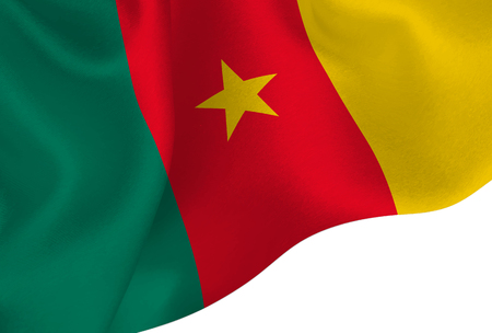 Cameroon national flag background