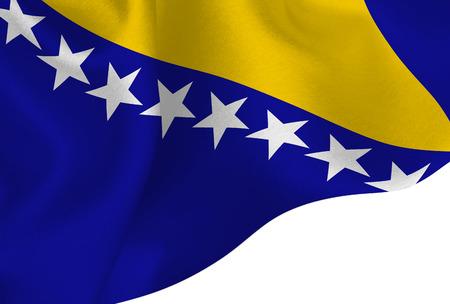 bosnia national flag background Stock Illustratie