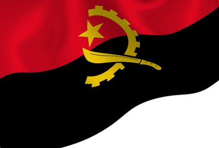 Angola national flag background Illustration