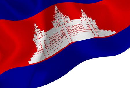 Cambodia national flag background Illustration