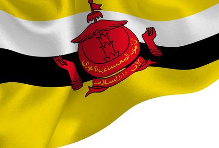 Brunei national flag background Illustration