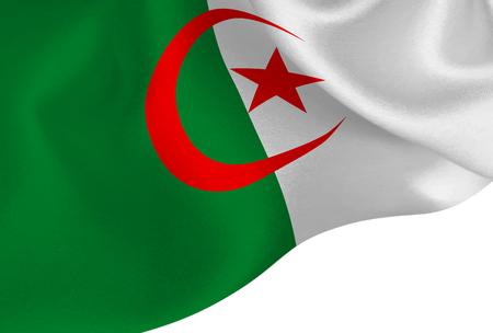 Algeria national flag background Illustration
