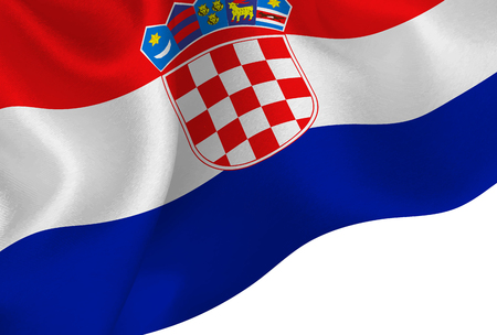 Croatia national flag background Ilustração