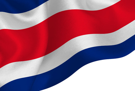 Costa Rica national flag background Иллюстрация