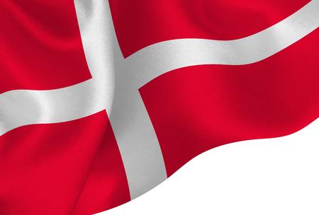Denmark national flag background 일러스트
