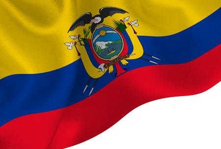 Ecuador national flag background Ilustração