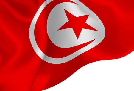 Tunisia national flag background Stock Illustratie