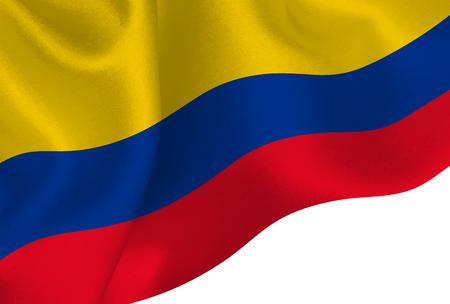 Columbia national flag background 일러스트