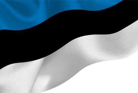 Estonia national flag background  イラスト・ベクター素材