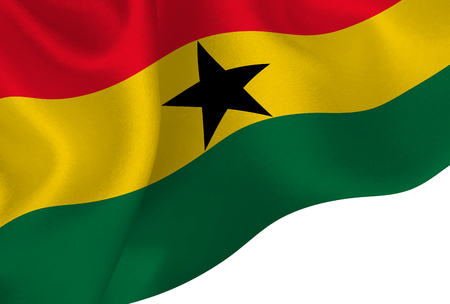Ghana national flag background 일러스트