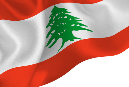 lebanon national flag background Vectores