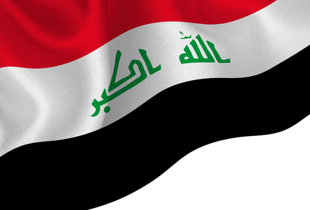 Iraq national flag background