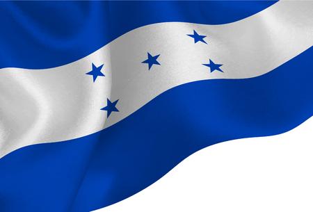 Honduras national flag background Illustration