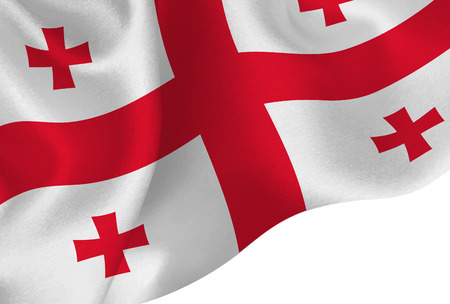 georgia national flag background Ilustração
