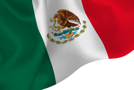 Mexico national flag background