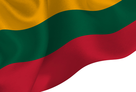 Lithuania national flag background Ilustração
