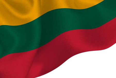 Lithuania national flag background Illustration