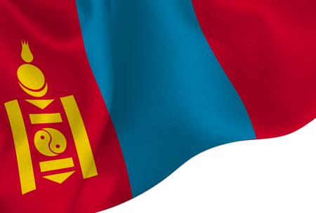 Mongolia national flag background Stock Illustratie