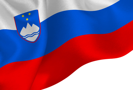 Slovenia national flag background Illustration
